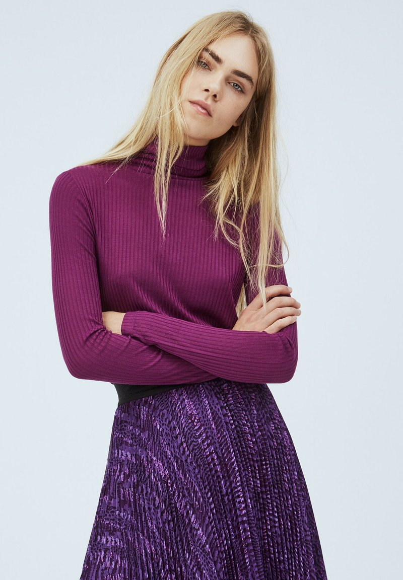 Pepe Jeans - DEBORAH - Long sleeved top - dark plum