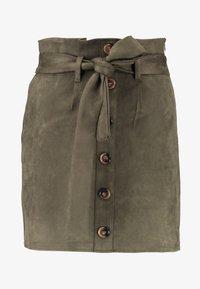 Missguided - PAPERBAG WAIST SKIRT - Pencil skirt - khaki - 4