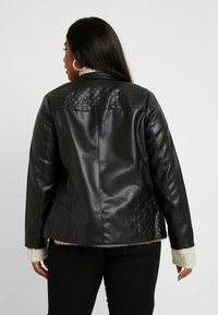 Dorothy Perkins Curve - COLLARLESS JACKET - Faux leather jacket - black - 2