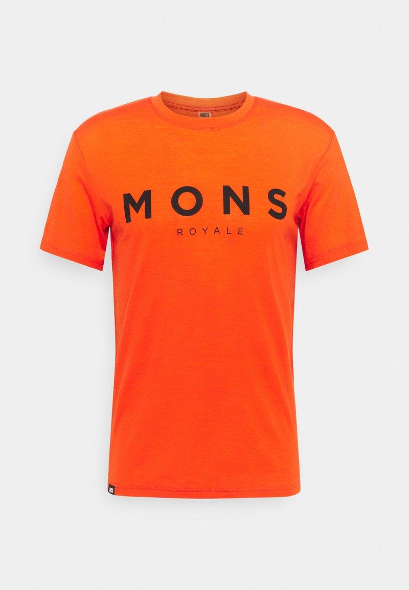 Mons Royale - ICON - Triko spotiskem - orange smash