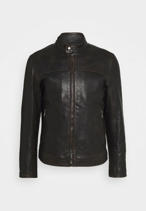 CLEARY - Leather jacket - brown