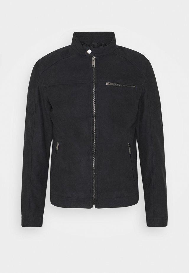 JJEROCKY JACKET - Faux leather jacket - jet black