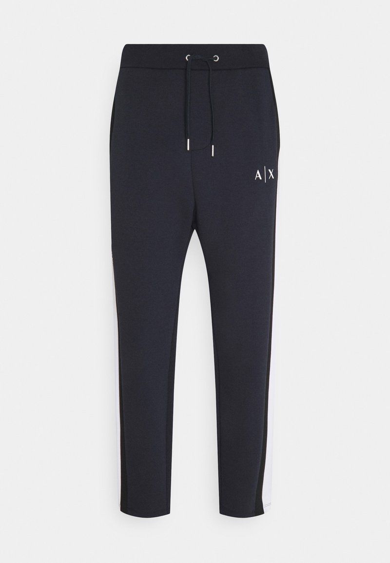 Armani Exchange - JOGGER - Tracksuit bottoms - navy/white/black