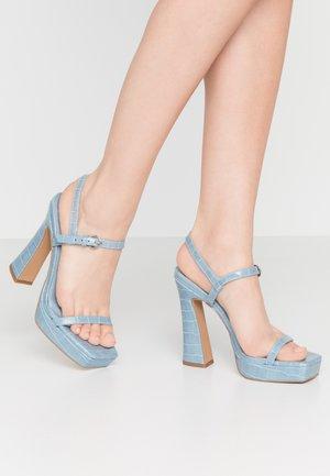 RENA PLATFORM - Sandály na vysokém podpatku - pale blue
