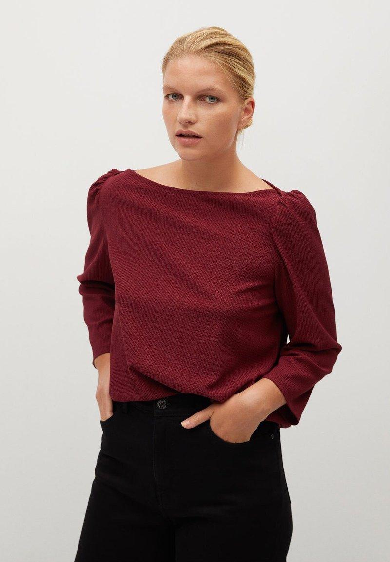 Violeta by Mango - RAYETAS - Long sleeved top - maroon