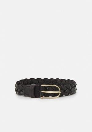 Braided belt - black/gold-coloured