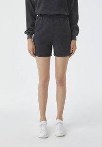 PULL&BEAR - Shorts - mottled dark grey - 0
