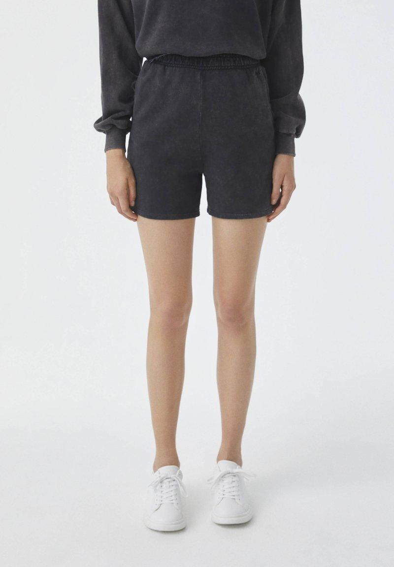 PULL&BEAR - Shorts - mottled dark grey