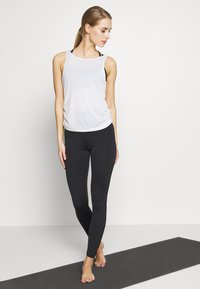Nike Performance - YOGA RUCHE TANK - Funktionsshirt - summit white - 1