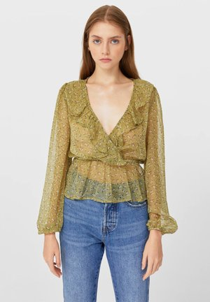 MIT PRINT - Blouse - mustard yellow