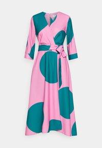 Closet - CLOSET HIGH LOW WRAP DRESS - Day dress - pink - 0