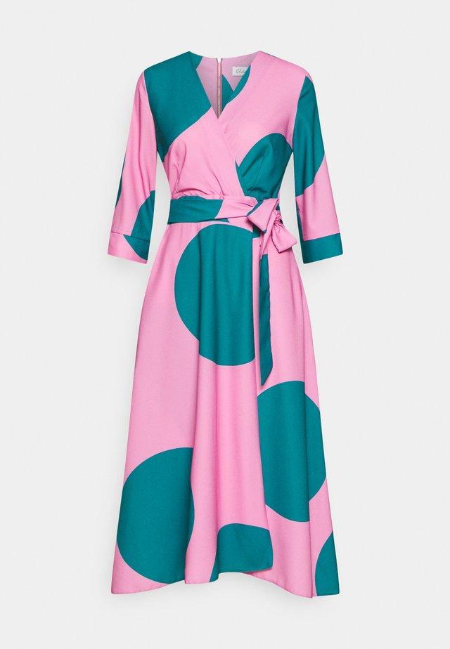 CLOSET HIGH LOW WRAP DRESS - Sukienka letnia - pink