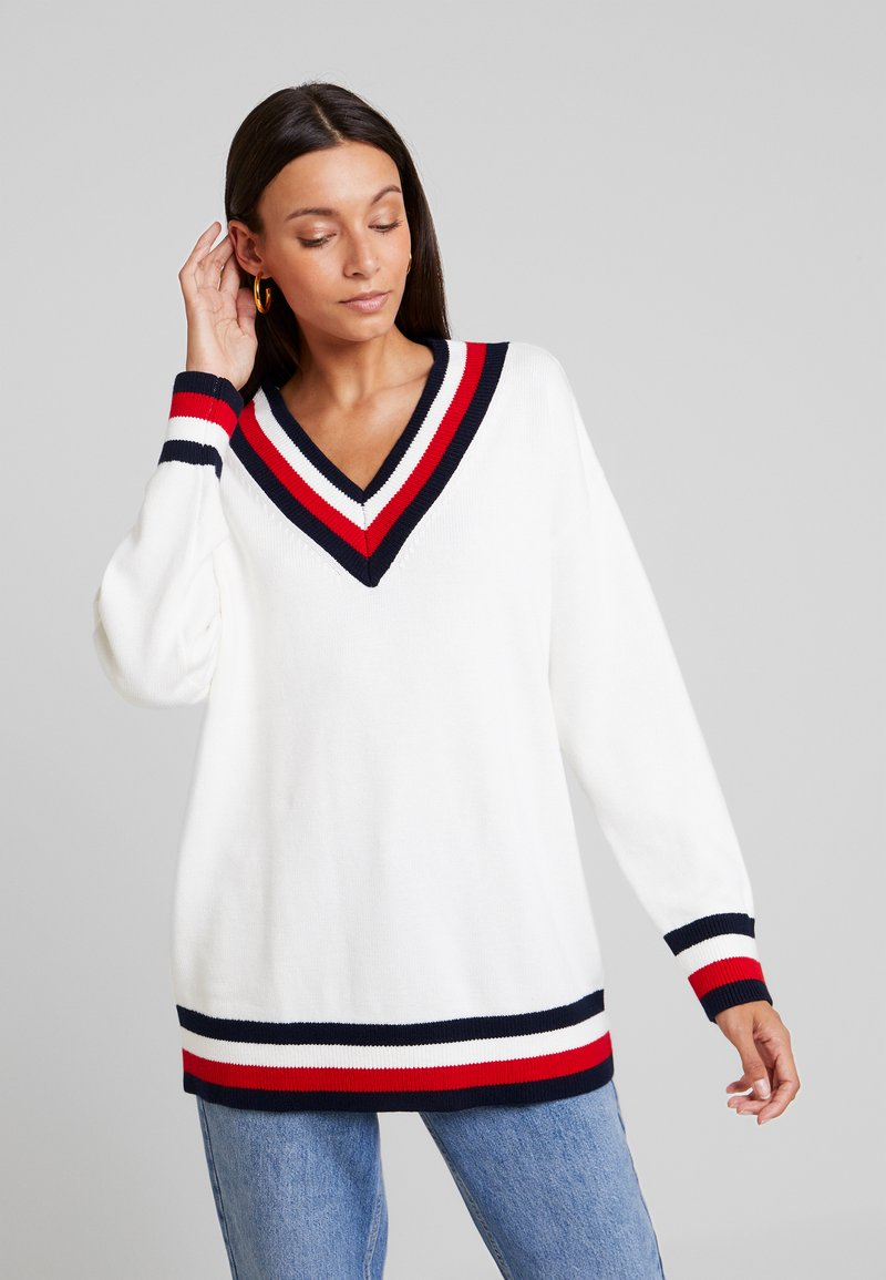 Tommy Hilfiger - ESSENTIAL TIPPING - Maglione - white