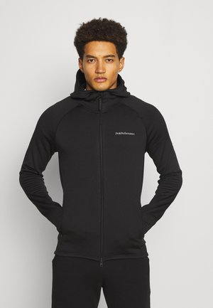CHILL ZIP HOOD - Fleecejacke - black