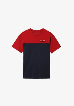 BY VICTORY COLORBLOCK  - Basic T-shirt - chili pepper-dress blues