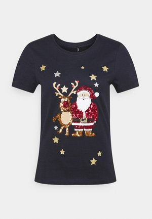 ONLYRSA CHRISTMAS - Print T-shirt - night sky
