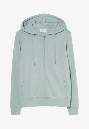 Zip-up sweatshirt - light turquoise