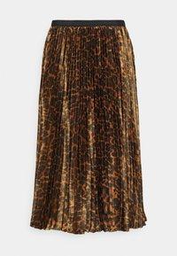 J.CREW - PAULINA SKIRT - Pleated skirt - brown black - 0