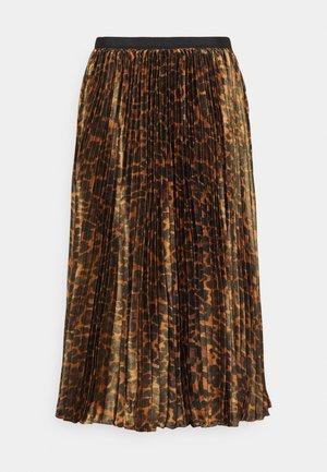 PAULINA SKIRT - Plisovaná sukně - brown black