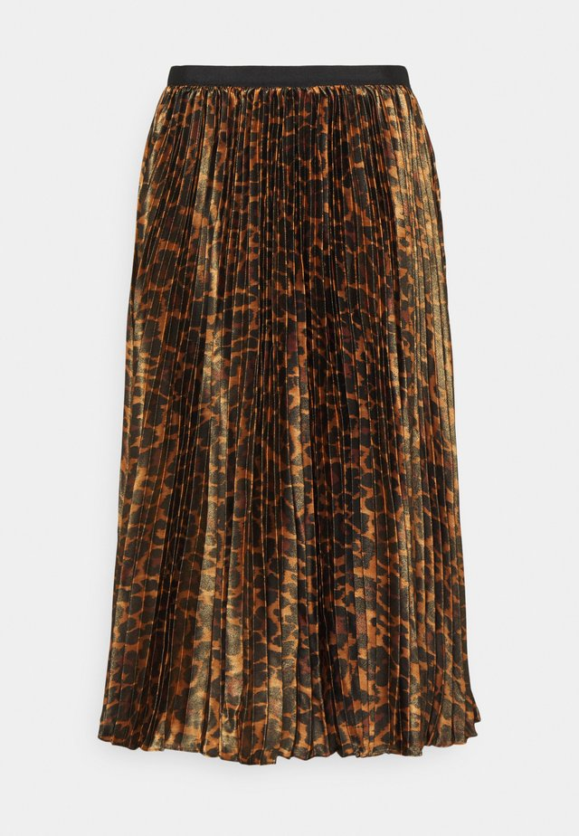PAULINA SKIRT - Plisovaná sukně - brown black