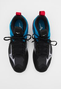 Mizuno - WAVE MIRAGE 3 - Handball shoes - black/white/diva blue - 3