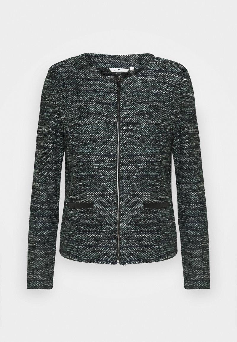 TOM TAILOR - BOUCLE - Blazer - mint/black/white