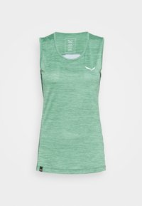 Salewa - PUEZ GRAPHIC DRY TANK - Sports shirt - feldspar green melange - 5