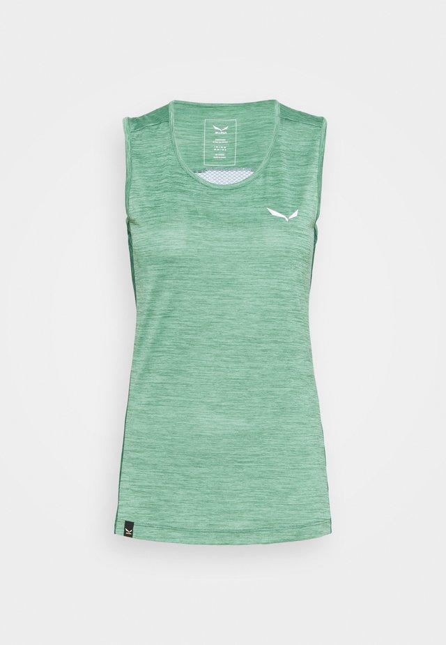 PUEZ GRAPHIC DRY TANK - Treningsskjorter - feldspar green melange