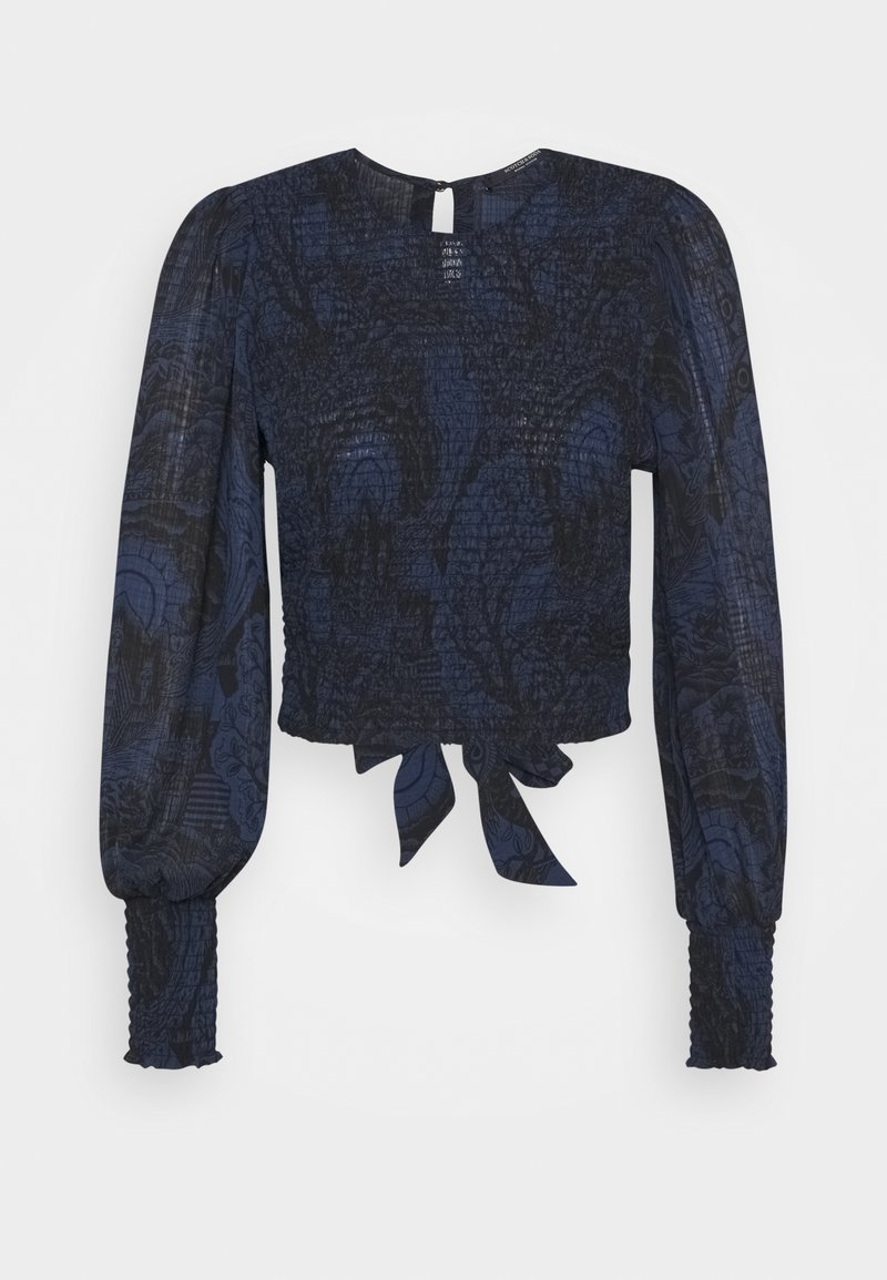 Scotch & Soda - STORYTELLING FITTED TOP WITH SMOCKED DETAILING - Blůza - dark blue