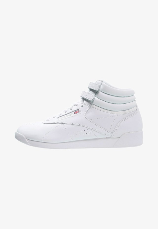FREESTYLE HI LIGHT SOFT LEATHER SHOES - Korkeavartiset tennarit - white/silver