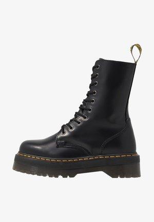 JADON HI - Platåstøvletter - black