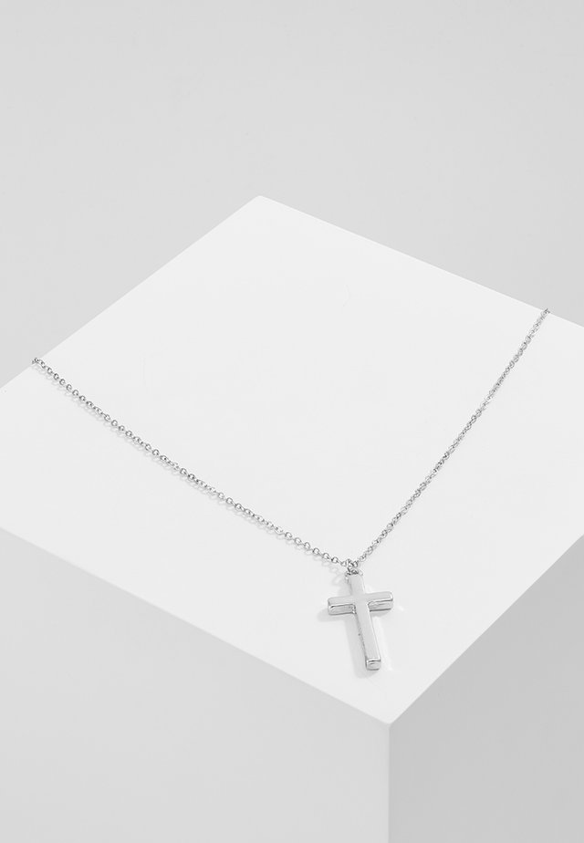 CROSS TOWN NECKLACE - Halskæder - silver-coloured