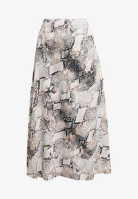 Gestuz - BARAN SKIRT - A-line skirt - light grey/black - 3