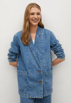 LAILA - Short coat - mittelblau