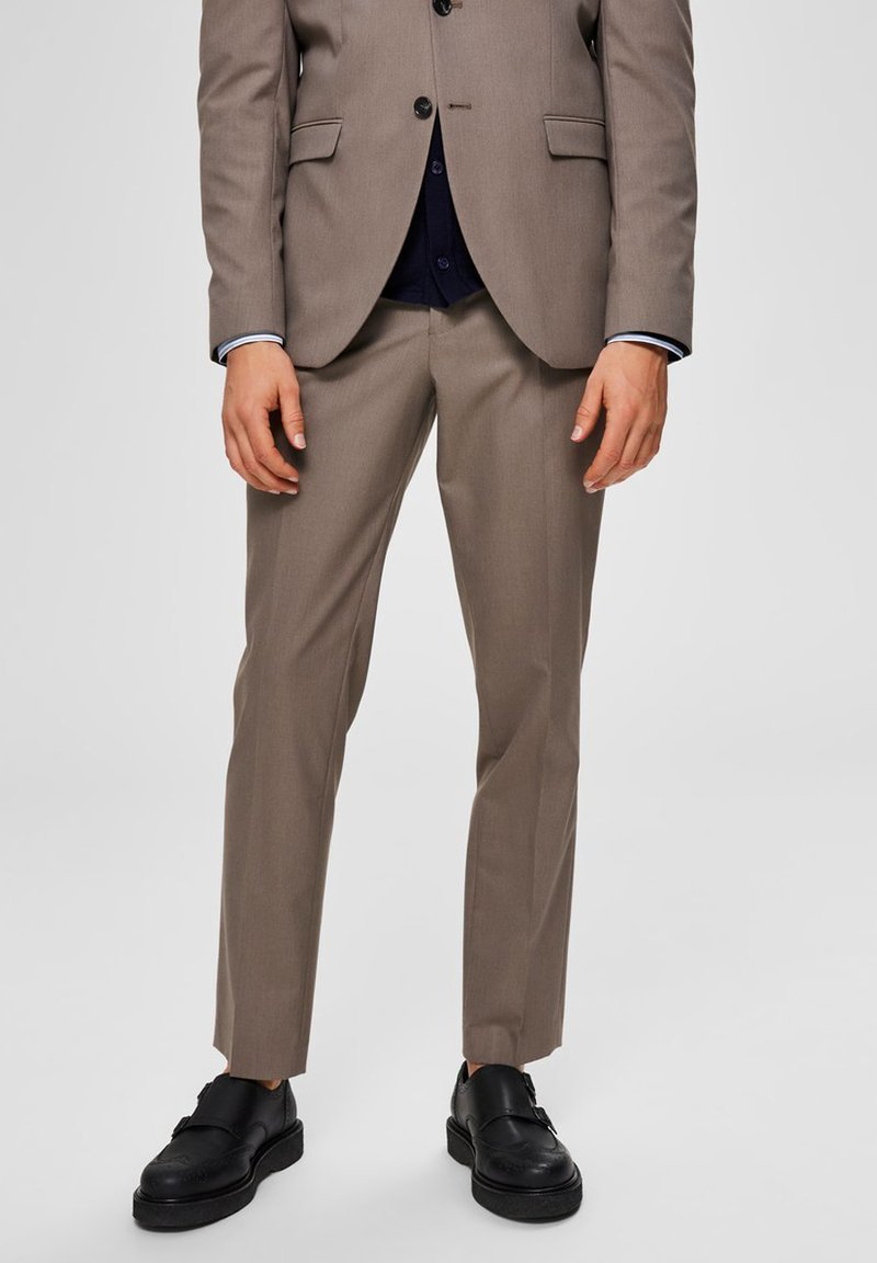 Selected Homme - SLIM FIT - Suit trousers - sand