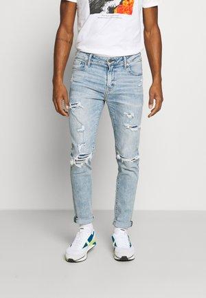 AIRFLEX ATHLETIC - Skinny džíny - destroyed denim