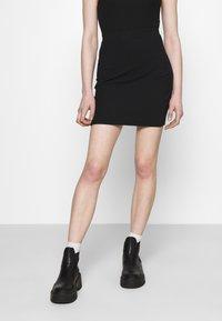 Even&Odd - 2 PACK - Mini skirt - black/khaki - 1