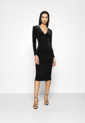 DEEP MIDI DRESS - Jersey dress - black