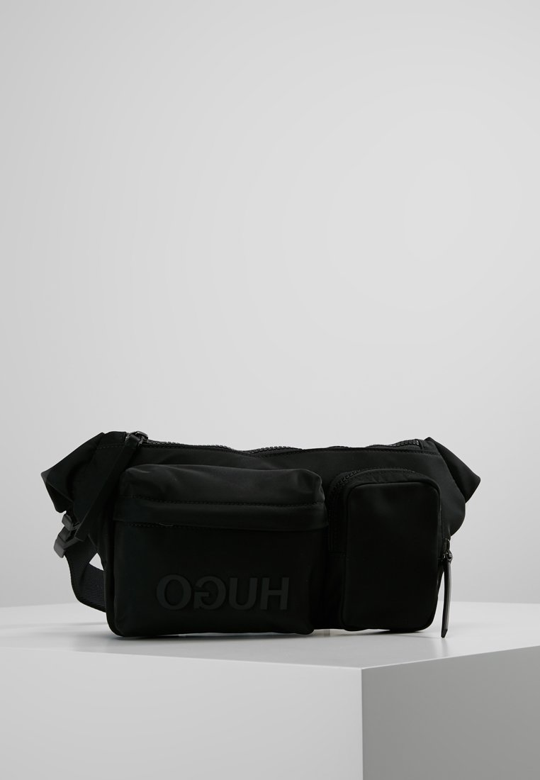 HUGO - RECORD WAIST BAG - Ledvinka - black