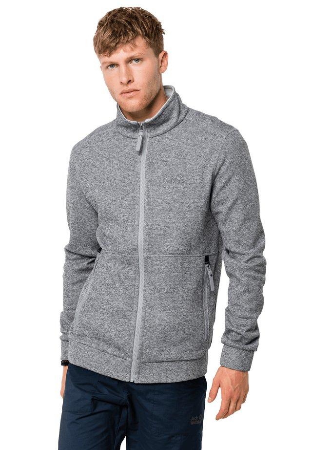Fleece jacket - slate grey