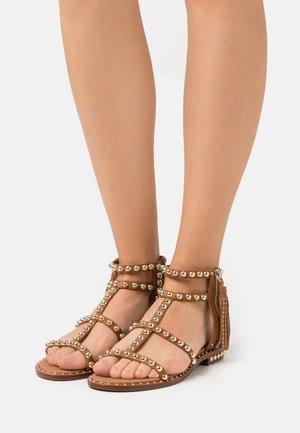 POWER - Sandals - new cinnamon/gold