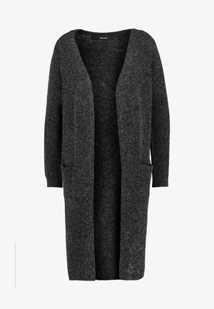 VMDOFFY LONG OPEN CARDIGAN - Neuletakki - black/melange