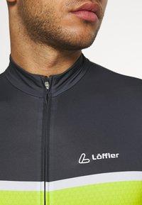 LÖFFLER - BIKE PACE - T-Shirt print - black/light green - 3