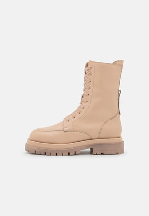 Plateaustiefel - offwhite