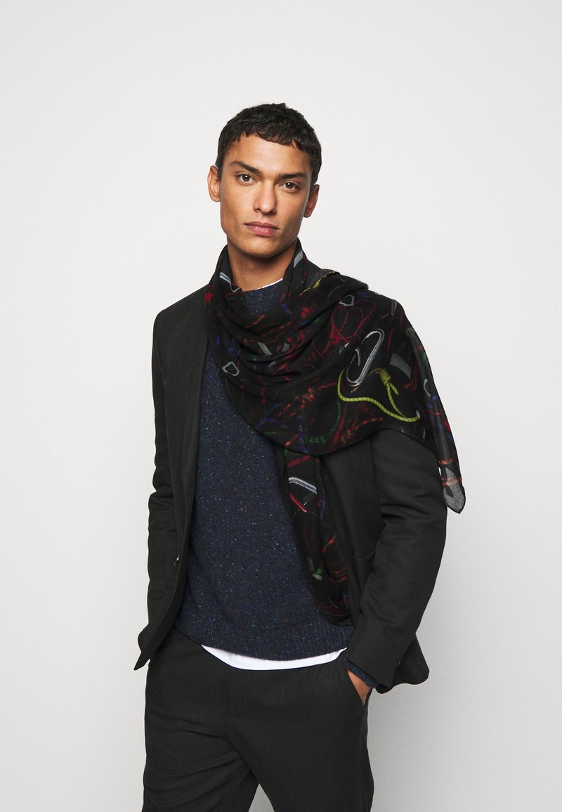 PS Paul Smith - SCARF ROPE PRINT - Scarf - black