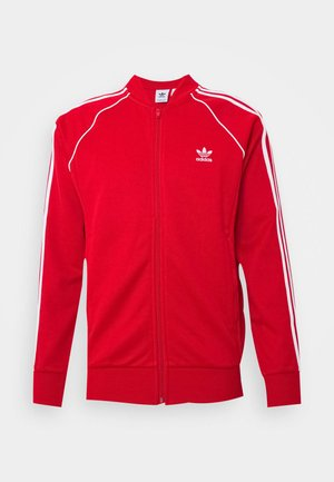 UNISEX - Training jacket - scarle/white