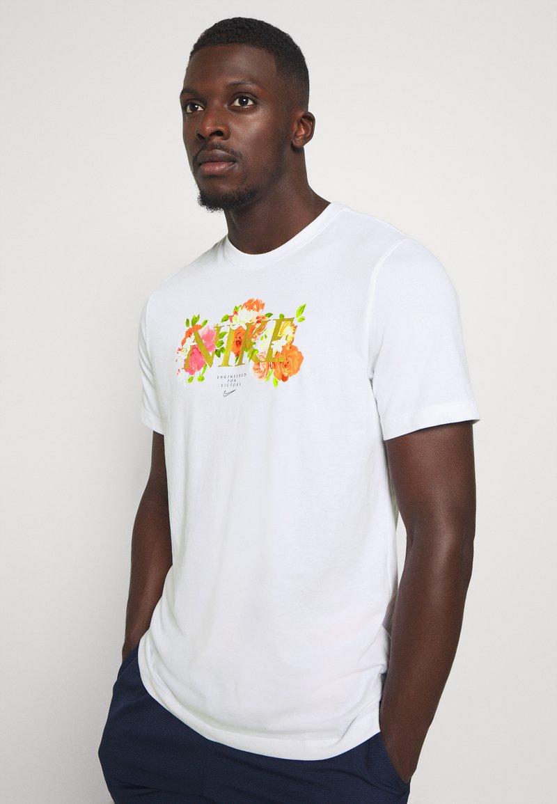 Nike Performance - DRY TEE ELITE - Print T-shirt - white