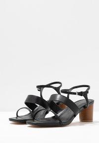 Topshop Wide Fit - WIDE FIT DITA STRAP - Sandals - black - 4