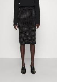 Pinko - EXTRADRY GONNA MANO CALDA - Pencil skirt - black - 0