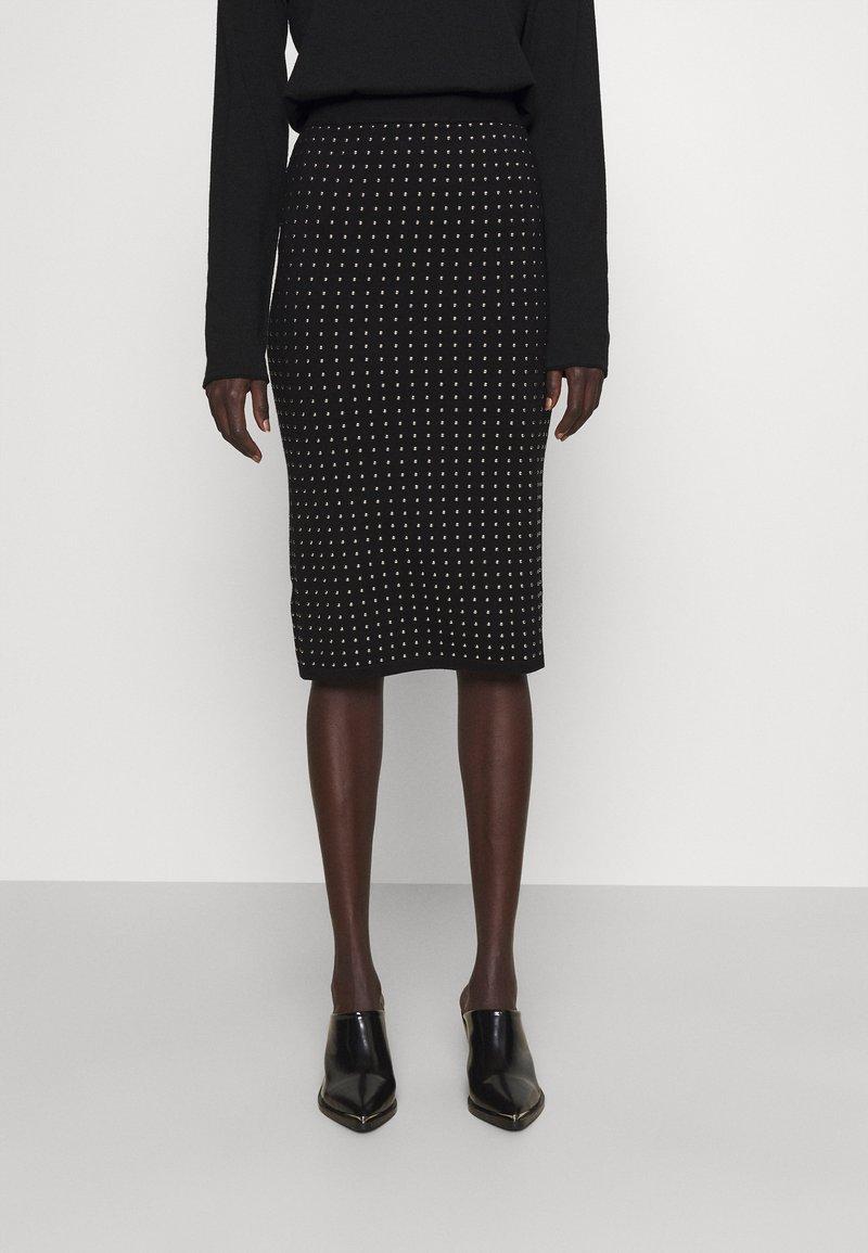 Pinko - EXTRADRY GONNA MANO CALDA - Pencil skirt - black